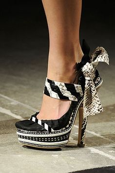 Bohemian Black and White Shoes