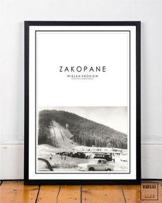 plakat 50x70 cm ZAKOPANE V - MAMBALAGA - Plakaty typograficzne