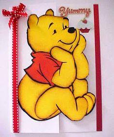 Winnie the Pooh Cutout card