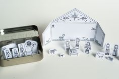Made by Joel » Travel Size Paper City Nativity Scene!