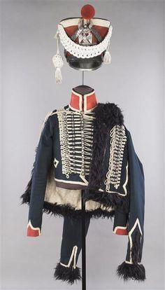 Dolman, pelisse et shako de garde d'honneur. 1813-14  Musée de l'armée française