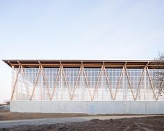 DLW-architectes, Francois Dantart · Waste, recyling and repair centre Timber Architecture, Timber Buildings, Studios Architecture, Sustainable Architecture, Contemporary Architecture, Architecture Details, Landscape Architecture, Biophilic Architecture, Materials And Structures