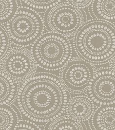 Eye catching dots. Perfect for mix and match applications, easily complement any design theme you have at home.  Content: 52% Cotton, 48% Polyester Width: 54 Inches Fabric Type: Print Upholstery Grade