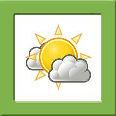 Weerkaartjes Pompom, zon en wolken