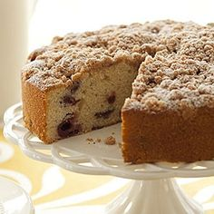 Learn how to make Sour Cherry Coffee Cake. MyRecipes has tested recipes and videos to help you be a better cook. Easter Breakfast Recipes, Easter Brunch, Easter Recipes, Easter Desserts, Easter Food, Breakfast Dishes, Easter Ideas, Food Cakes, Cupcake Cakes