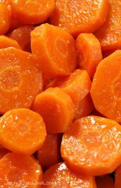 Sweet Creamy Carrots recipe from Jenny Jones (JennyCanCook.com) - Sweet, fresh and full of vitamin A. Easy recipe takes 15 minutes.