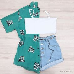 Girls Fashion Clothes, Teen Fashion Outfits, Retro Outfits, Girl Outfits, Cute Summer Outfits, Cute Casual Outfits, Stylish Outfits, Tumblr Outfits, Swag Outfits