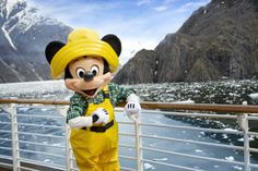 Last week, Cruise Director Clayton shared with you some of the spectacular sights Disney cruisers are experiencing in Alaska. They aren't the only ones having fun amid the stunning scenery… our Disney pals are also soaking up the fresh mountain Disney Dream, Disney Magic, Disney Fun, Disney Mickey, Mickey Mouse, Disney Stuff, Walt Disney, Disney Cruise Line, Disney Cruise Pictures