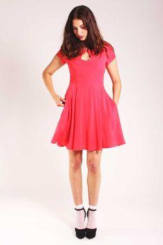 red tea dress dallise Louche
