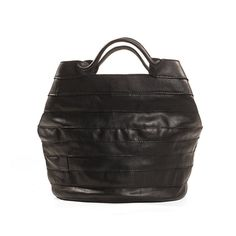 Black leather bag  leather tote bag  Women leather by KisimBags