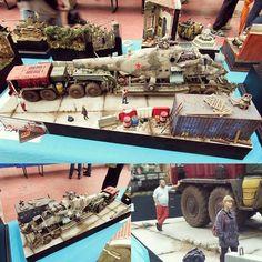Heavy shipping diorama!!! Unknown modeler #scalemodel #plasticmodel #scalemodelkit #plasticmodel #plastimodelo #miniatur #miniature #miniatura #hobby #plastickits #usinadoskits #udk #diorama