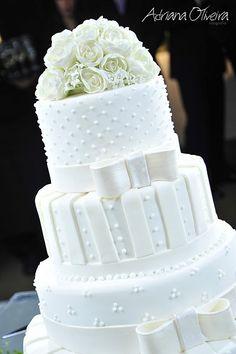 Bolos de Casamento com Flores