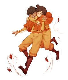Kai and Jinora idk this just makes me really happy ok