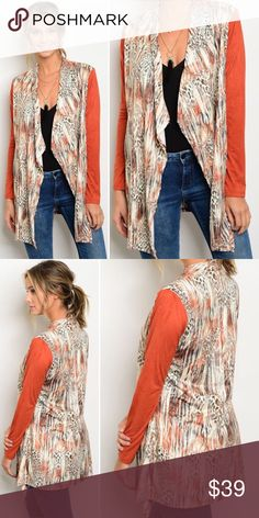 Leopard Cardigan It's always a great time to break out your leopard print, suede sleeve cozy Cardigan.   Fabric Content: 92% POLYESTER 8% SPANDEX  ❌Trades ✅ Price Firm ✴️ Bundles Save 20% Sweaters Cardigans