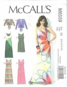 McCall's Pattern 6559 Misses' Jacket and Sleeveless Maxi Dress Size 6 22 Easy | eBay