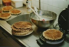 Eli makes Faith waffles since it's the only food they have to cook dinner & Faith helps. Stephanie Brown, Freshly Baked, Sunday Morning, Back Home, Just In Case, We Heart It, Bakewell, Food And Drink, In This Moment