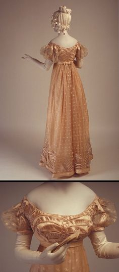 Evening dress. About 1815. Gift of Mrs. Diana McNeill. McCord Museum, Canada