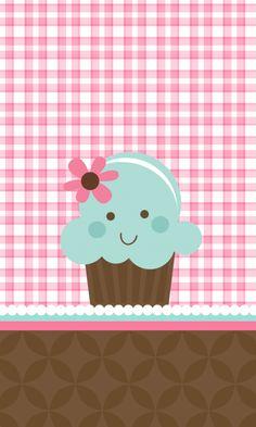 LuvMyEvo: ~ Kawaii Cupcake Wallpaper.