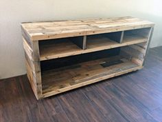 Reclaimed Wood Media Unit TV Stand Entertainment Center Console Center Rustic Beach House Cabin Loft Shabby Chic Handmade Pallet Furniture - TV Stands - Ideas of TV Stands - tv stand music media console center entertainment by KaseCustom Pallet Furniture Tv Stand, Pallet Tv Stands, Rustic Furniture, Tv Stand Out Of Pallets, Repurposed Furniture, Diy Furniture Projects, Diy Wood Projects, Tv Stand And Entertainment Center, Tv Stand Designs