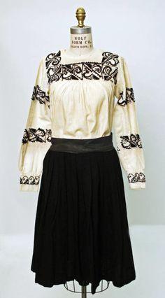 Ecuadorian ensemble via The Costume Institute of the Metropolitan Museum of Art... love the embroidery work.