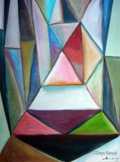 Triangles picture,abstract artwork by Diego Manuel