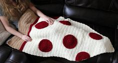 Items similar to Dorm Room- Sleeping Bag- Teen Mens Gift- Pizza Blanket- Dad Gifts- Cocoon- Kids Gift- Pizza Afghan- Crochet Blanket- Boyfriend- Christmas on Etsy Crochet Shoes Pattern, Crochet Patterns, Crochet Ideas, Gifts For Teen Boys, Gifts For Teens, Crochet Shawl Free, Crochet Lace, Pizza Blanket, Christmas Gifts For Brother