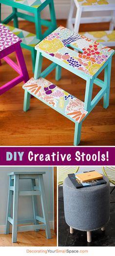 DIY Creative Stools • Tons of Ideas & Tutorials!