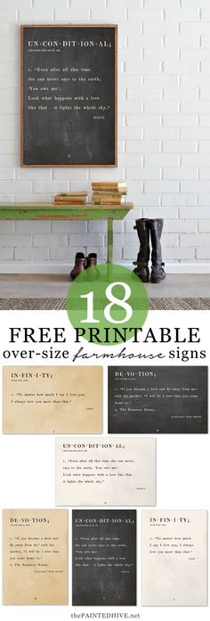 18 Large-Scale FREE Printable Quote Signs!