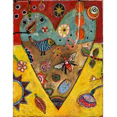 "Jill Mayberg – Print ""Honey Heart"" | Greenleaf Gallery"