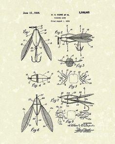 Fishing Lure 1926 Patent Art #patentart