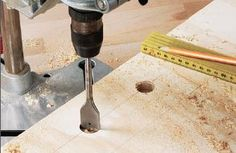 Boring footboard holes with spade bit