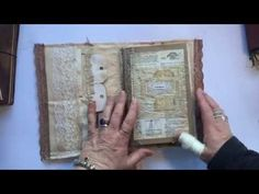 I absolutely adore Michelle Mooney's work!  Shabby Scrappy Journals - latest projects - YouTube