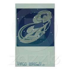 Vintage Virgo, Signs of the Zodiac Print from Zazzle.com