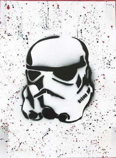 storm trooper spray paint art storm trooper star wars gift for him poster star wars painting gift birthday  by FloralFantasyDreams