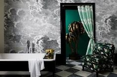 1000 images about wallpaper murals on pinterest cole for Etched arcadia mural wallpaper