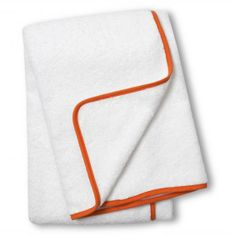 Orange Piped Bath Towel
