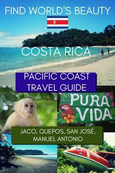 Costa Rica Pacific Coast Travel Guide: San José, Jacó, Quepos and Manuel Antonio - Find World's Beauty World Travel Guide, Travel Guides, Travel Tips, Quepos, Jaco, Jamaica Vacation, Vacation Spots, Costa Rica Pacific Coast, Costa Rica Travel