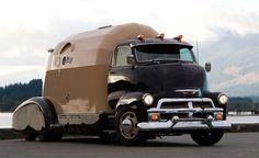 Very cool futuristic RV - 1954 Chevrolet COE Tourliner, winner of the 2011 Peach City Beach Cruise Show
