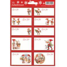 Tomte Santa Sticker/labels 2 Pk - By artist Lars Carlsson https://www.scandinavianshoppe.com/store/p/1597-Tomte-Christmas-Sticker-labels-Lars-Carlsson.html