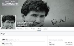 [#SocialVip] Anche Gianni Morandi entra nel club dei Vip dello spettacolo da un milione di fan.