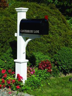 Garden Cottage - Lazy Hill Farm Designs Canterbury Mailbox Post, $208.06 (http://www.gardencottage.com/lazy-hill-farm-designs-canterbury-mailbox-post/)
