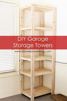 Construct a storage tower to place in a empty corner. | 38 Borderline Genius Ways To Organize Your Garage