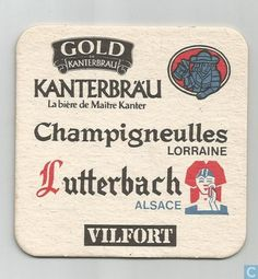 Sous-bock - Allemagne - Walsheim Bière Allemande / Kanterbräu Champigneulles Lutterbach Vilfort Sous Bock, Happy Hour, Beer, Drink, German Beer, Germany, Alcohol, Drinks, Beer Coasters