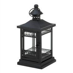 Simply Black Garden Candle Lantern