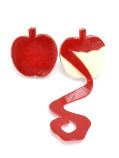 Apple brooches by a Japanese maker.