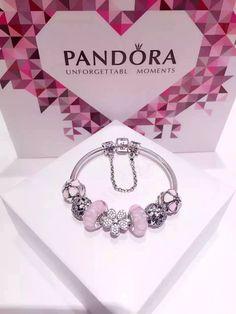 Tendance Bracelets  50% OFF!!! $219 Pandora Charm Bracelet Pink. Hot Sale!!! SKU: CB01567  PANDORA