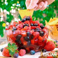 Summer Berry Fruit Salsa