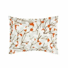 Marimekko grey/orange lumimarja pillow sham $39.95 from FinnStyle