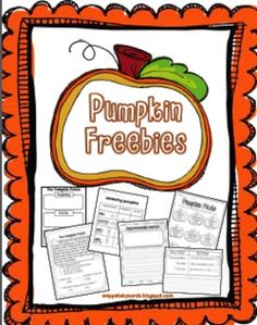 Pumpkin Freebies - Sarah Paul - TeachersPayTeachers.com