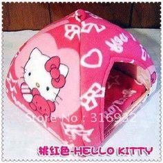 NEW arrival, Hello Kitty yurt-shaped dog bed, good quality, suitable for small pet on AliExpress.com. $18.99